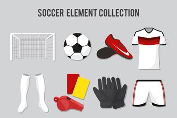 14款精致足球元素设计矢量素材