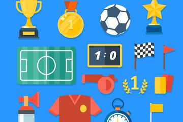 15款创意足球元素矢量素材