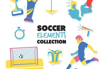 10款创意足球元素矢量素材