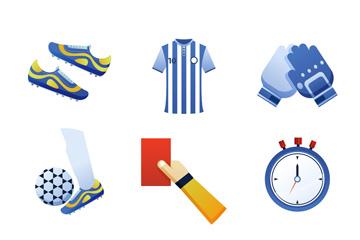 9款时尚足球元素矢量素材