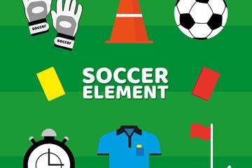 8款创意足球元素矢量素材
