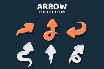 9款卡通箭头设计矢量素材