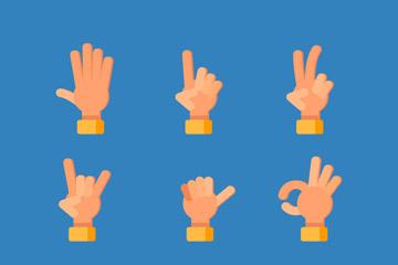 9款常用手势设计矢量素材