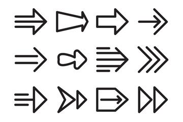16款黑色箭头设计矢量素材