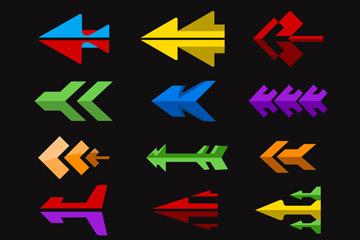 15款扁平化箭�^�O�矢量素材
