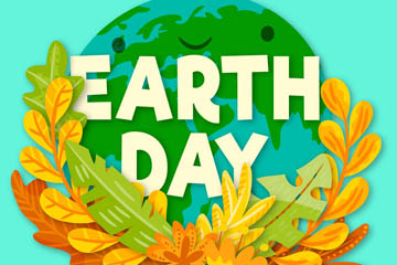 ��意世界地球日被�淙~包��的地球矢量�D