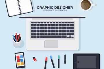 创意世界平面设计日桌面矢量素材