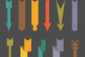 11款扁平化箭头设计矢量图