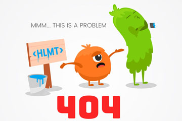 创意404错误页面可爱怪兽矢量素材