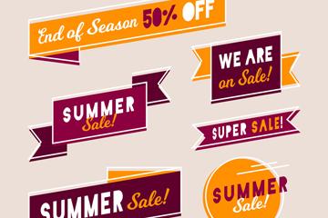 6款创意夏季促销标签矢量素材