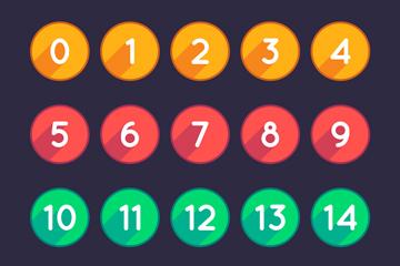 20款彩色�A形�底炙��g字矢量素材