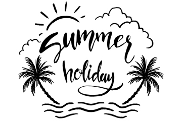 手绘大海椰子树夏季艺术字最新网络赌博网站