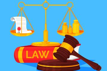 3款精美法律元素矢量素材