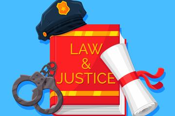 3款��意法律元素矢量素材
