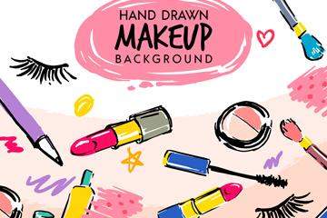 15款彩绘女性化妆品矢量素材