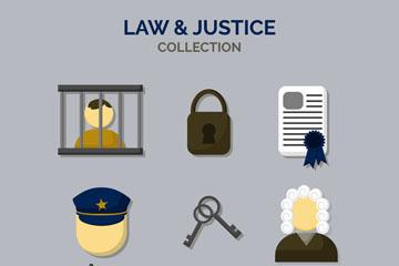 9款创意法律元素图标矢量素材