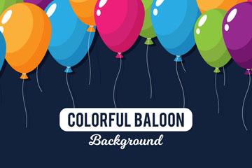 五彩气球设计矢量素材