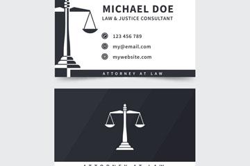 简洁黑色律师名片正反面矢量素材