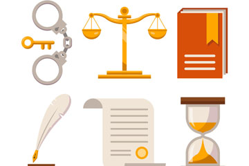 6款��意法律元素矢量素材