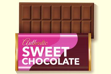 美味巧克力板矢量素材