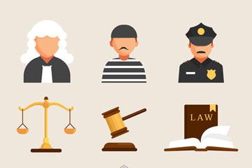 9款创意法律元素矢量素材
