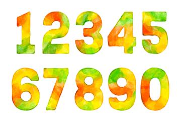 10款水彩绘混色数字矢量素材