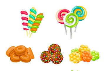 6组美味糖果设计矢量素材