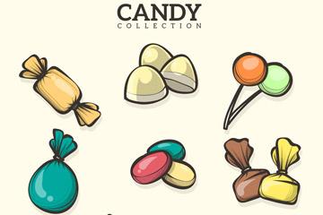 8款手绘糖果设计矢量素材