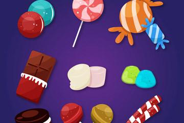 9款彩色甜食设计矢量素材