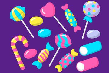 14款彩色糖果设计矢量素材