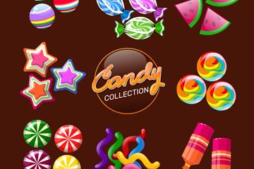 8组创意糖果设计矢量素材