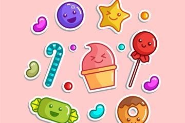 15款可爱糖果设计矢量图