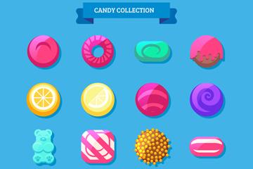 16款彩色糖果设计矢量素材