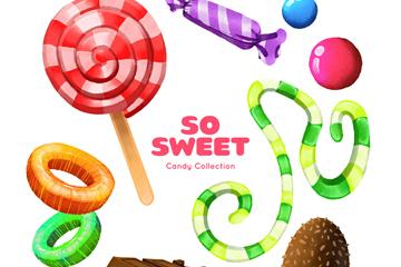 9款彩色美味糖果矢量素材