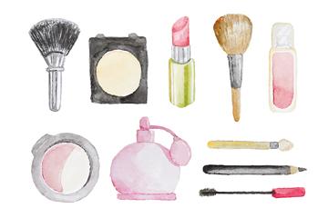 10款彩绘化妆品设计矢量素材