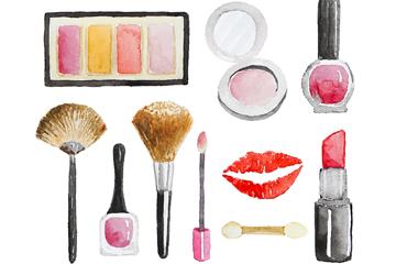 10款创意美妆产品矢量素材