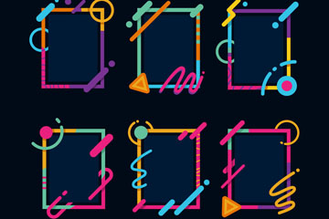 6款�r尚�L方形框架矢量�D