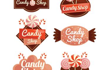 6款��意糖果店�撕�矢量素材