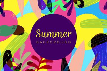 彩色抽象夏季�淙~矢量素材