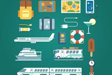 17款精致旅行元素设计矢量素材
