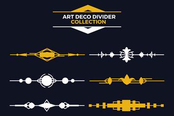 8款创意装饰艺术风格分割线矢量图