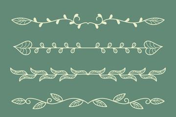 6款白色花边设计矢量素材