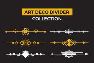 10款创意装饰艺术风格分割线矢量图