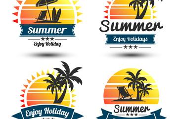 4款��意夏季假期太��撕�矢量�D