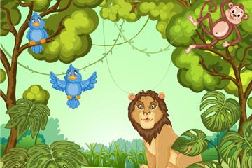 卡通丛林里的野生动物最新网络赌博网站