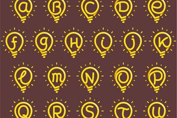 26款手�L字母�襞菰O�矢量素材