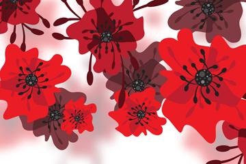 创意红色花卉最新网络赌博网站