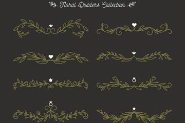 10款创意花纹花边设计矢量素材