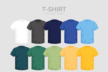 15款彩色短袖设计矢量素材