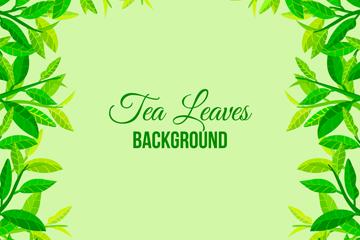 绿色茶叶框架设计矢量素材